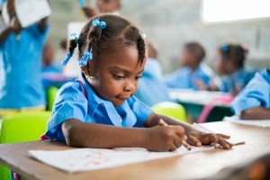 Haitian Student working diligently!